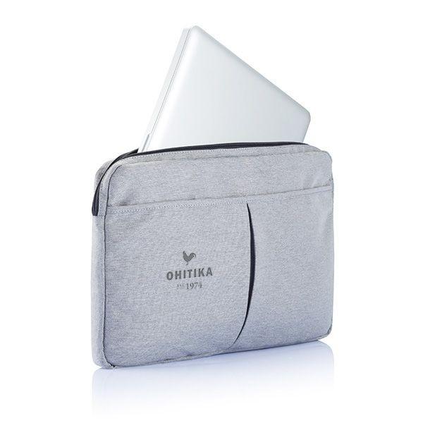 PVC vrije laptop hoes 15,4 grijs, View 2