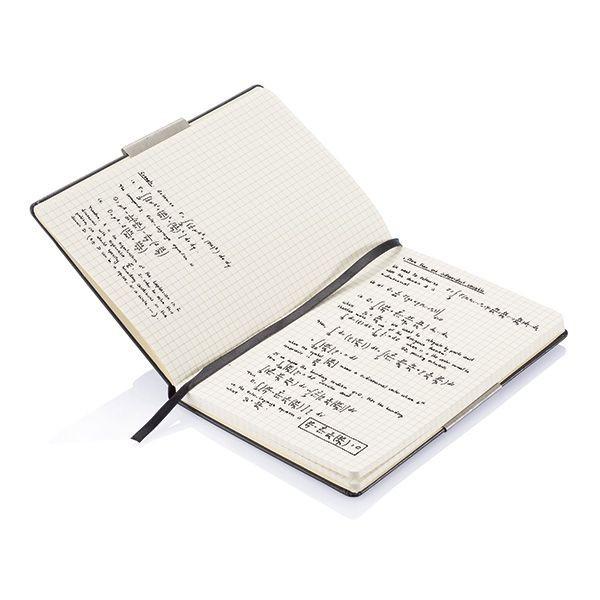 A5 rechthoekig hardcover notitieboek, zwart, View 5
