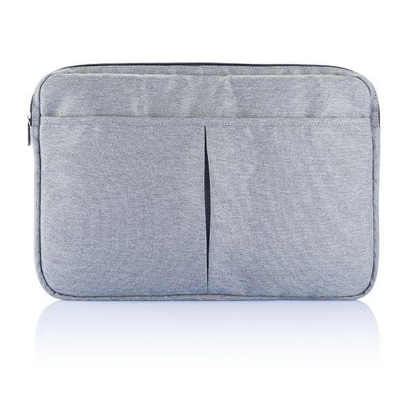PVC vrije laptop hoes 15,4 grijs, View 3