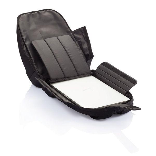 PVC vrije universele laptop rugtas, zwart, View 7