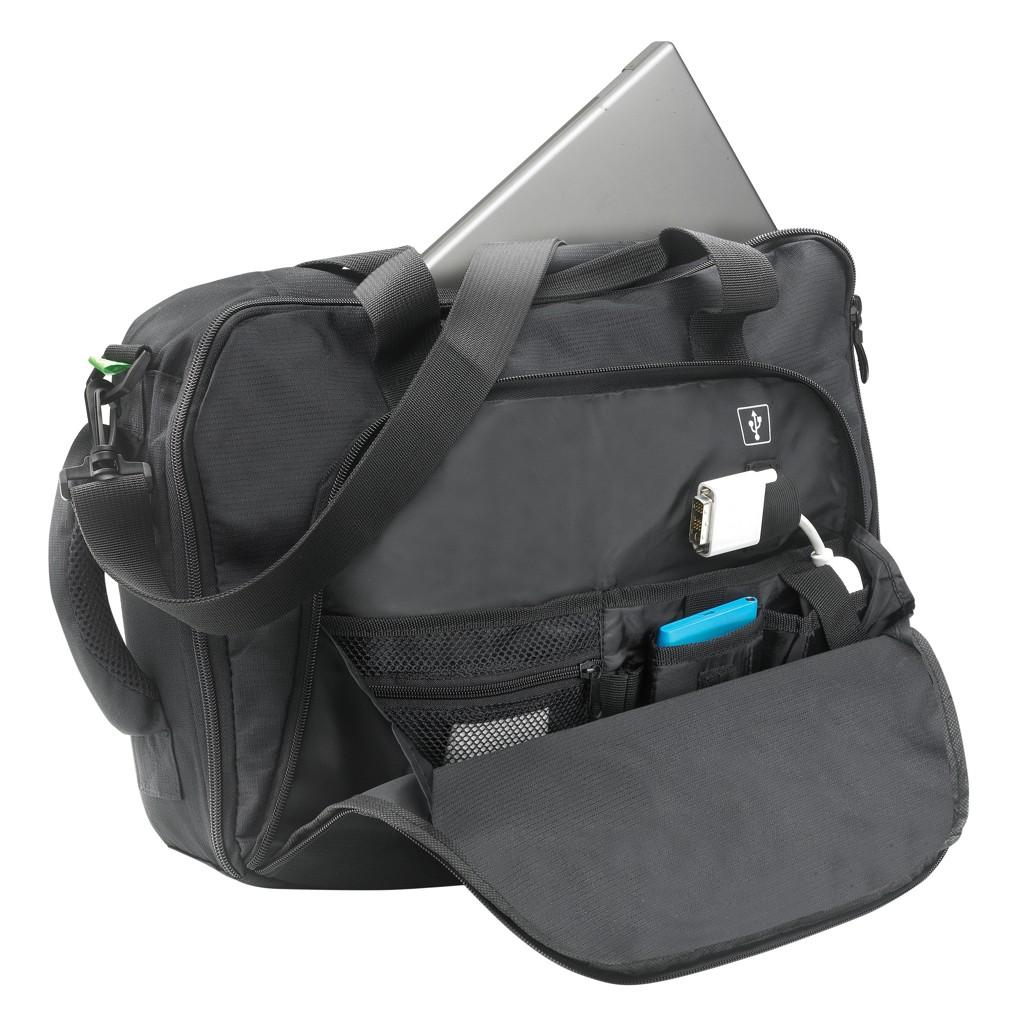 Florida laptop tas/rugtas, zwart, View 12