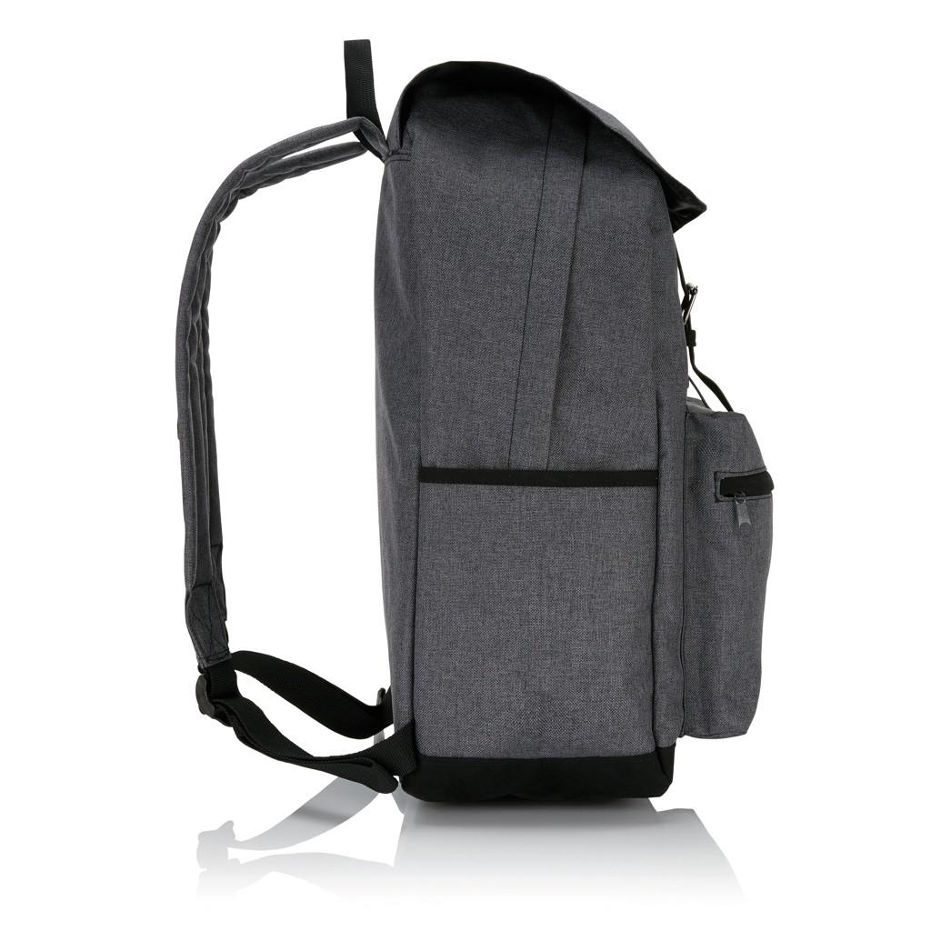 Laptop rugzak met magnetische gesp, grijs/zwart, View 7