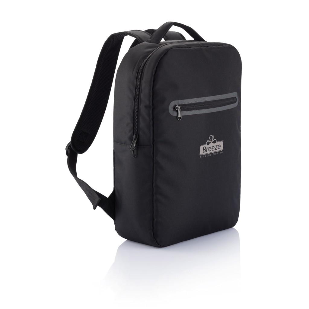 London PVC vrije laptop rugtas, zwart, View 6