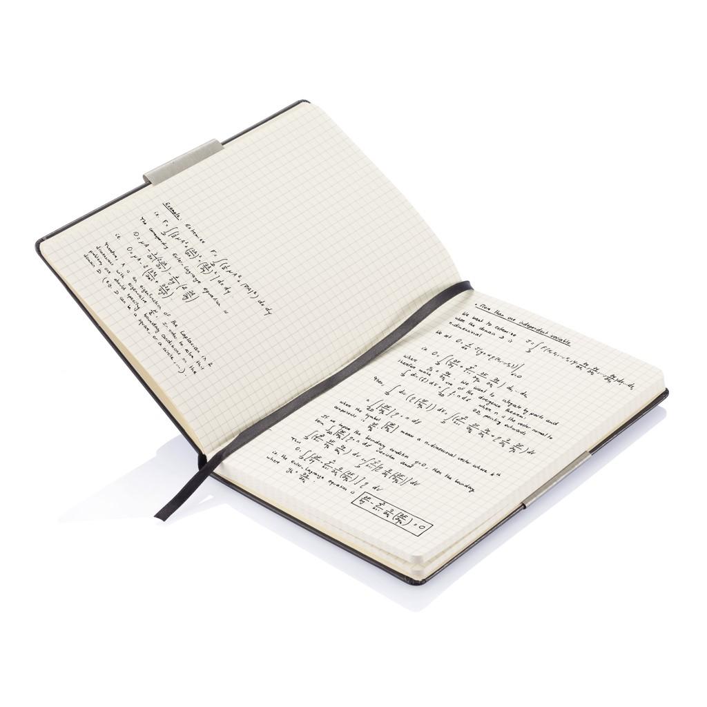 A5 rechthoekig hardcover notitieboek, zwart, View 9