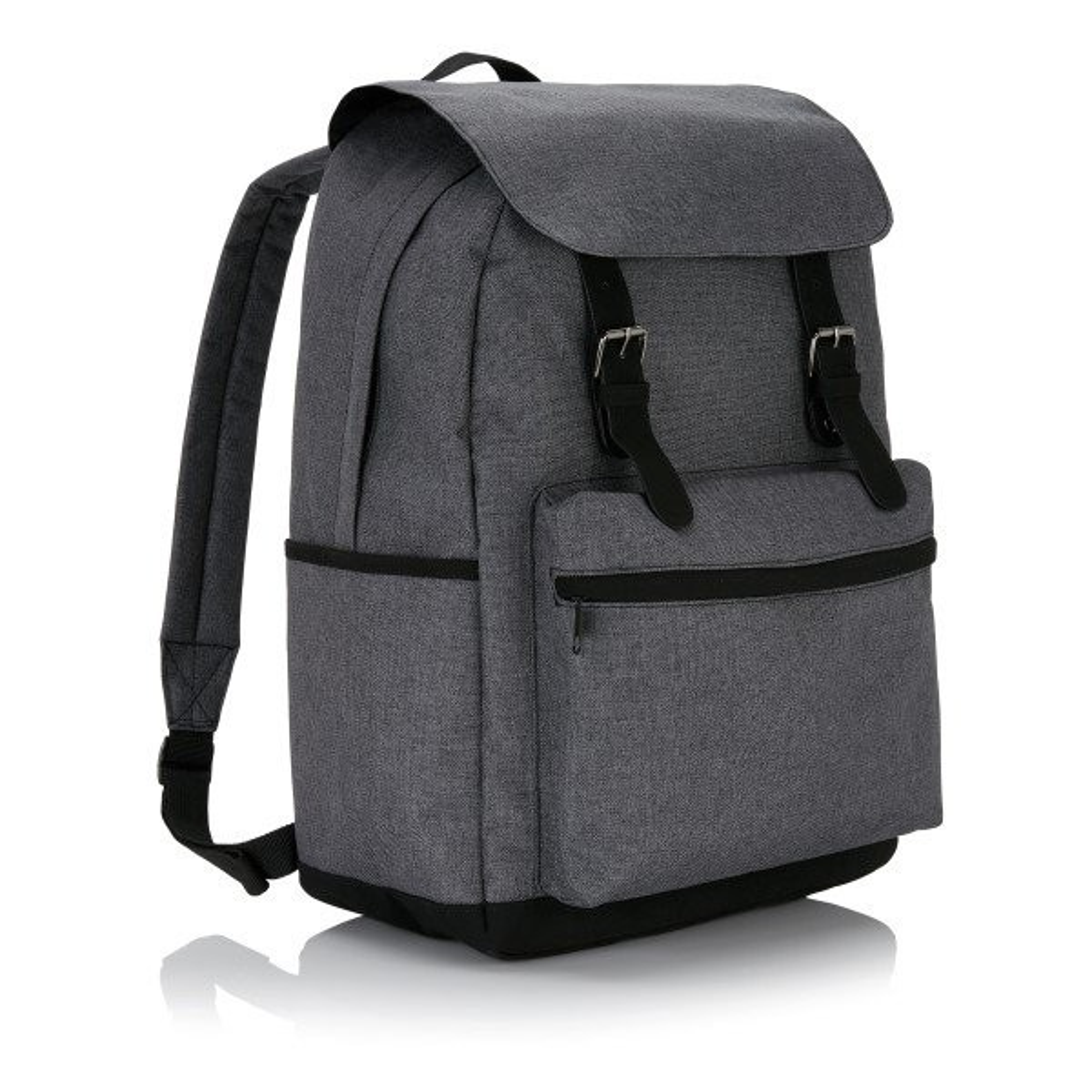 Laptop rugzak met magnetische gesp, grijs/zwart