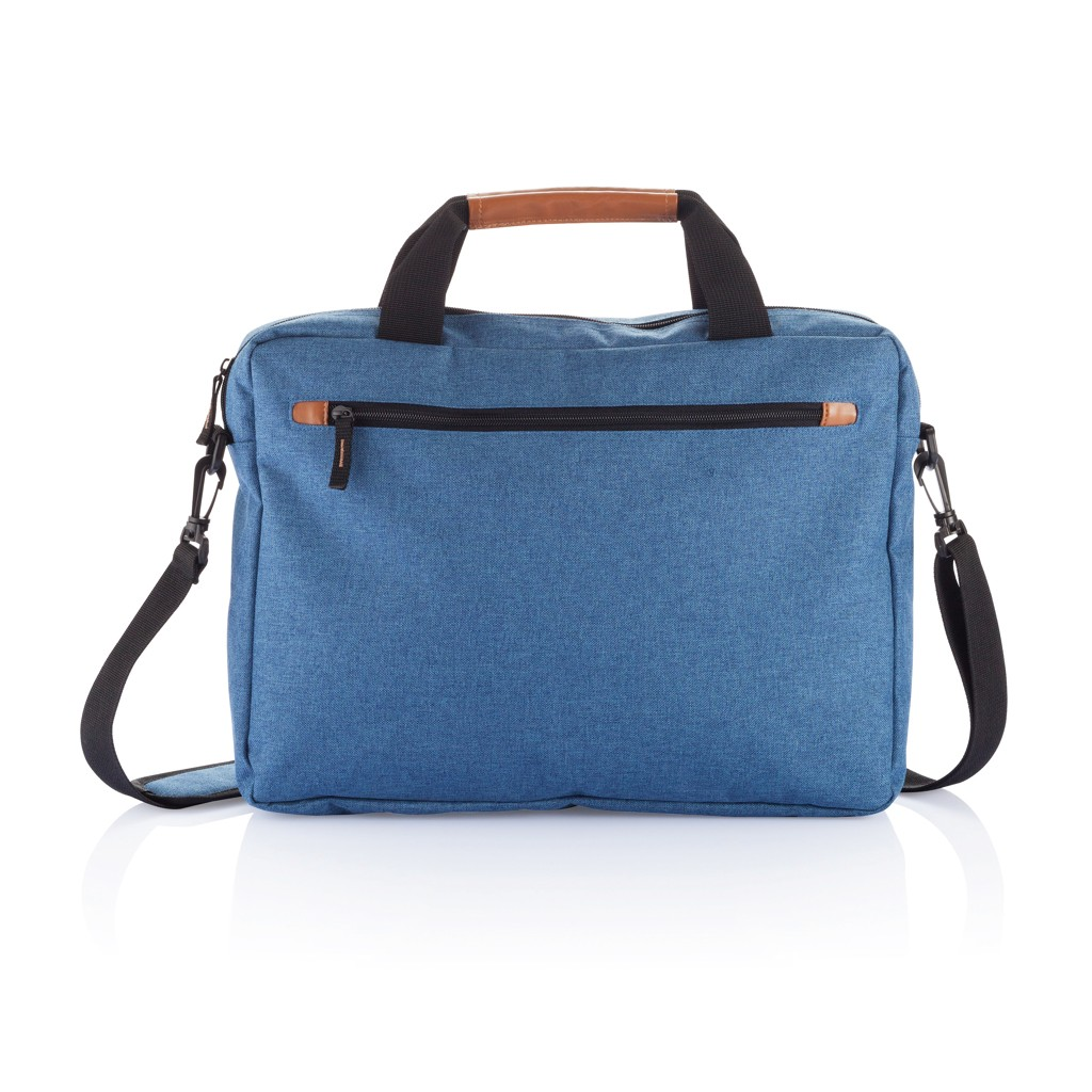 PVC vrije fashion duo tone laptop tas, blauw, View 5