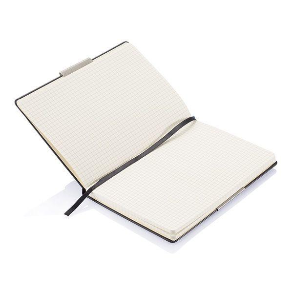 A5 rechthoekig hardcover notitieboek, zwart, View 4