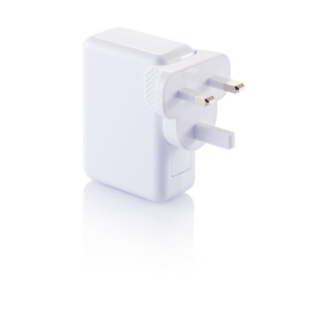 Reisstekker met 4 USB poorten, wit, View 7