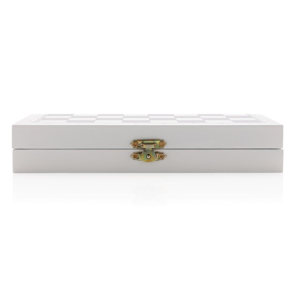 Luxe 3-in-1 bordspel in houten doos, View 3