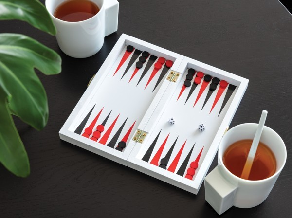 Luxe 3-in-1 bordspel in houten doos, View 10