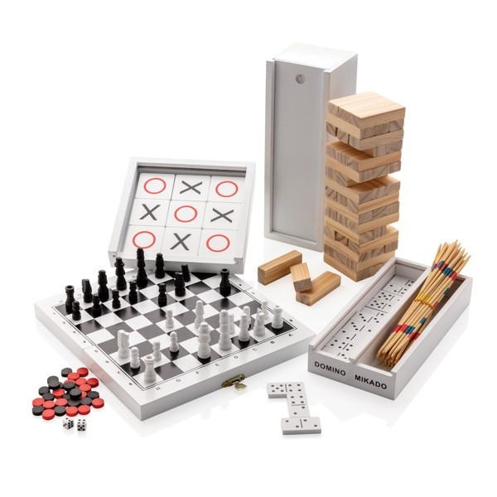 Luxe 3-in-1 bordspel in houten doos, View 8