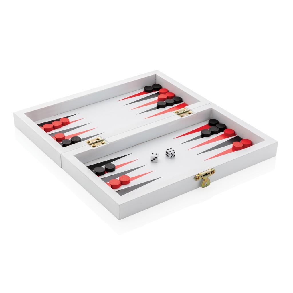 Luxe 3-in-1 bordspel in houten doos, View 5