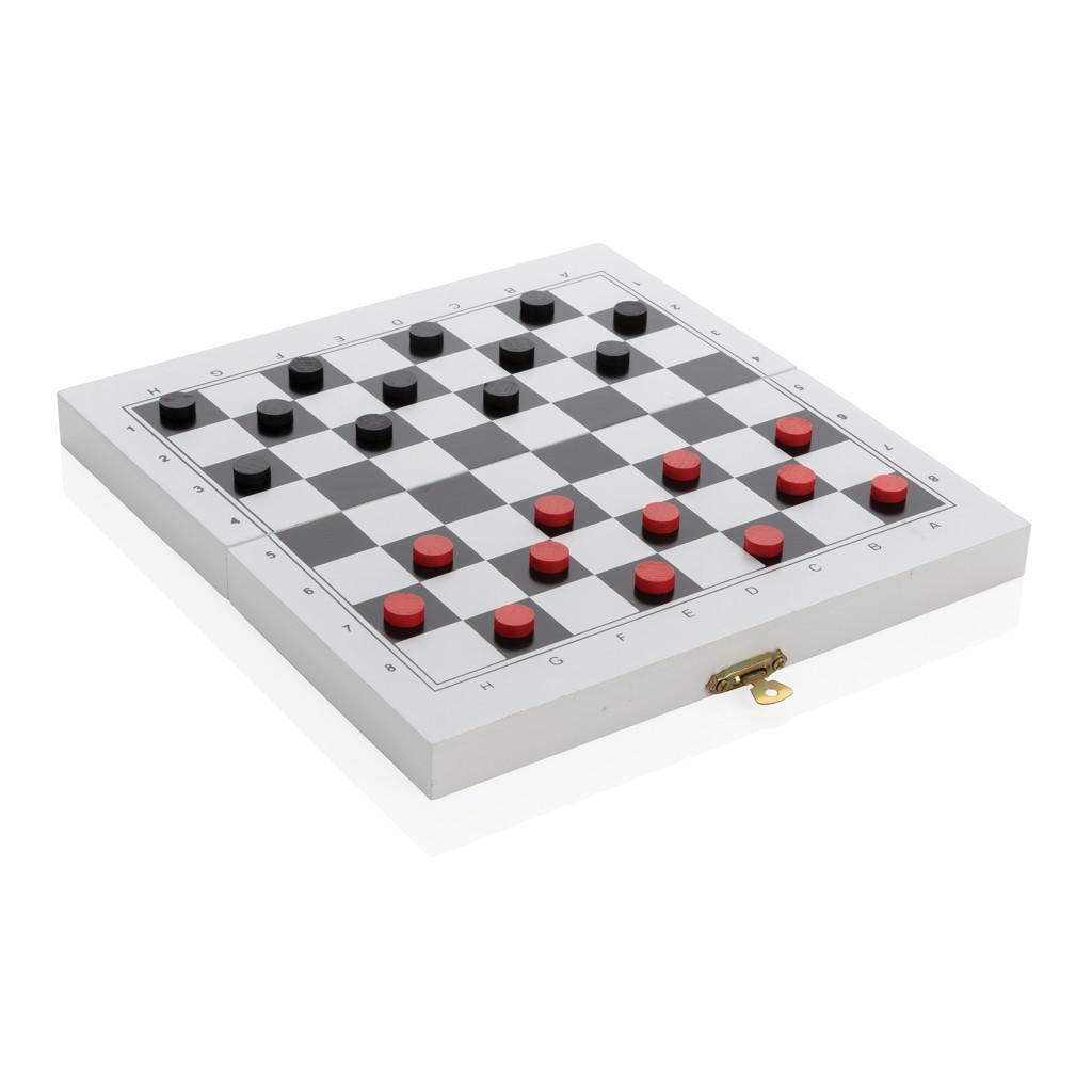 Luxe 3-in-1 bordspel in houten doos, View 6