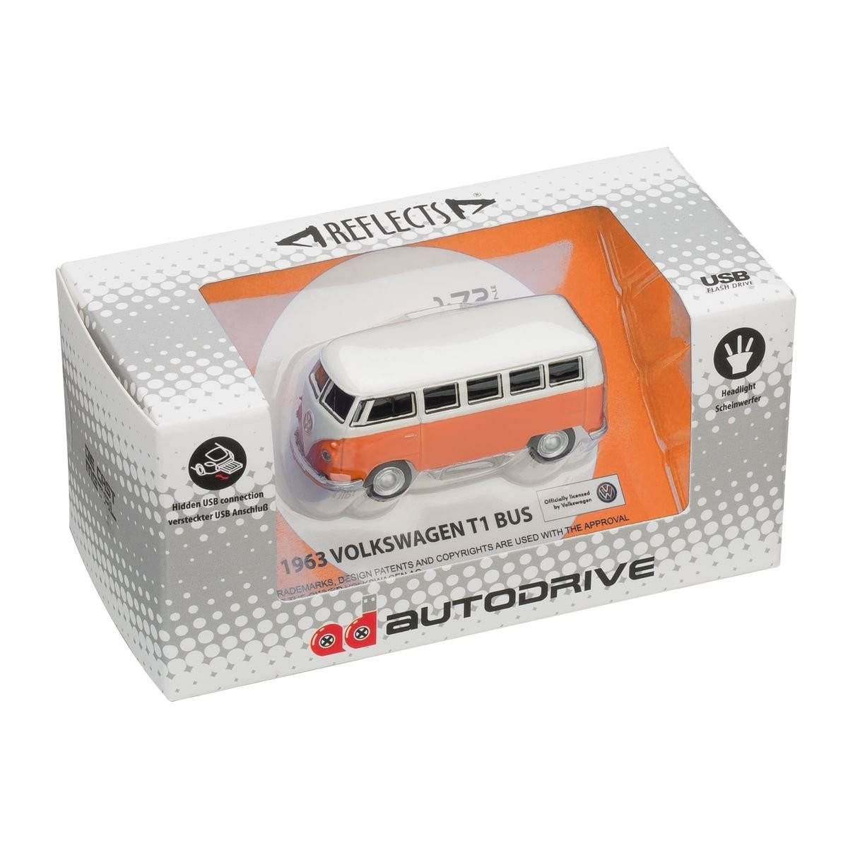 USB flash drive VW Bus T1 1:72 ORANGE 16GB, View 9
