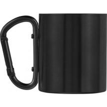 RVS, dubbelwandige reis mok (200 ml) - zwart