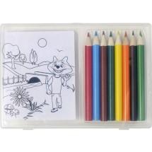 Tekenset met kleurplaatjes en kleurpotloden - neutraal