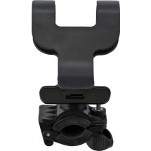 Verstelbare mobiele telefoonhouder 'Biker' - zwart