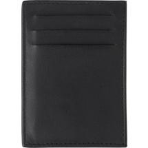 Splitlederen creditcard houder, RFID - zwart