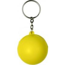 Sleutelhanger met anti-stress figuur - geel