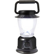 Kunststof campinglamp met LED - zwart