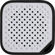Kunststof mini speaker met batterij 150mA. - zwart