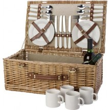Picknickmand, 4 personen - bruin