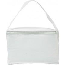 Non-woven koeltas (80g/m2) voor zes blikje - wit