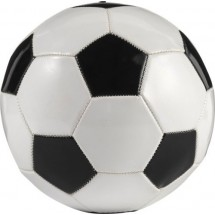 PVC voetbal - zwart / wit