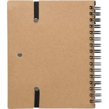 Recycled papieren notitieboek - zwart