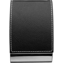 Visitekaartmap 'Black and White' - zwart / zilver