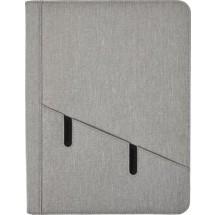 Polyester documentenmap (A4) met tablet houder - grijs