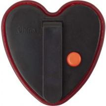 Plastic veiligheids lampje, model hart Heart - rood