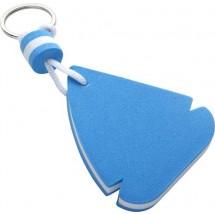Drijvende sleutelhanger 'Sailing' - blauw / wit
