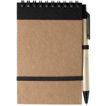 Notitieboekje 'ECO' met balpen 'Pocket' - zwart