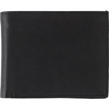 Splitlederen portemonnee, RFID - zwart