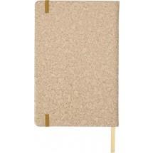 PU notitieboekje A5 met kurk print - bruin