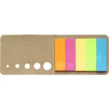 Memoboekje met 5 verschillende kleuren 'Sticker' - bruin
