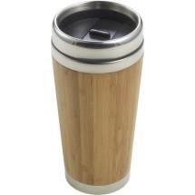 Bamboe en RVS reismok - bruin