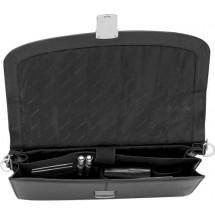 Charles Dickens® laptoptas leer Sketcher - zwart