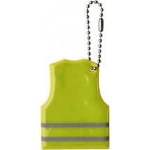 Reflecterend shirt aan ketting 'Warnweste' - geel
