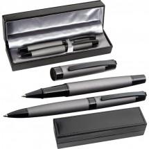 Metalen pennenset - grijs