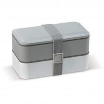 Bento box met bestek 1250ml - Grijs / Wit