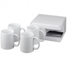 Ceramic mok 4 delige geschenkset - Wit