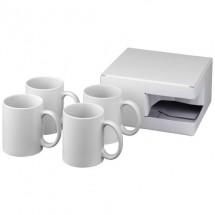 Ceramic sublimatie mok 4 delige geschenkset - Wit