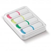 Set van 4 tekstmarkers Mini - Wit