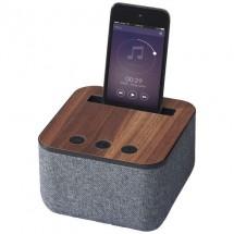 Shae stoffen en houten Bluetooth® luidspreker - Grijs