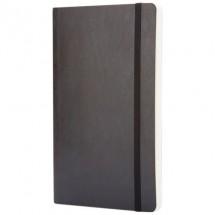 Classic L soft cover notitieboek - ruitjes - Zwart