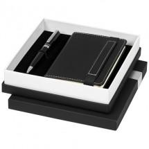 Legatto A6 notitieboekje en balpen geschenkset - Zwart
