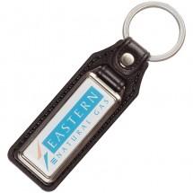 Metalen sleutelhanger - zwart / zilvermat