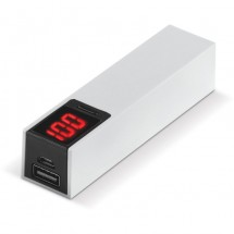Powerbank met power indicator - wit